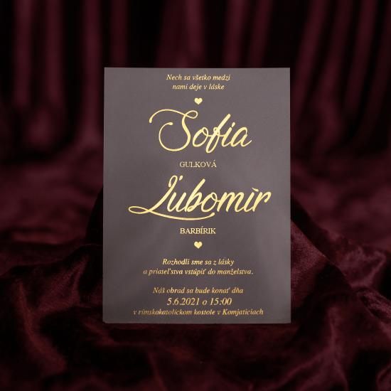 luxusne svadobne oznamenie plexi